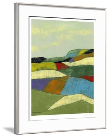 Patchwork Fields II-Jennifer Goldberger-Framed Limited Edition