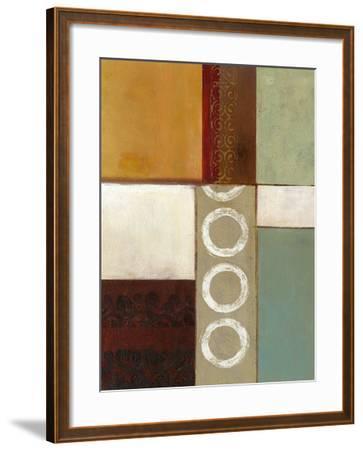 Spa Circles II-W^ Green-Aldridge-Framed Giclee Print