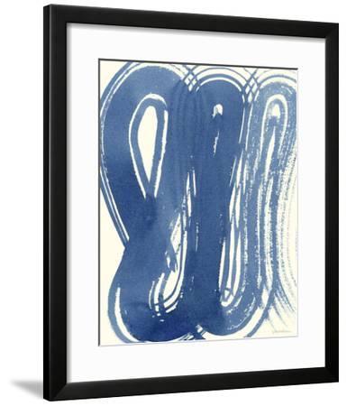 Macrame Blue V-Vanna Lam-Framed Giclee Print