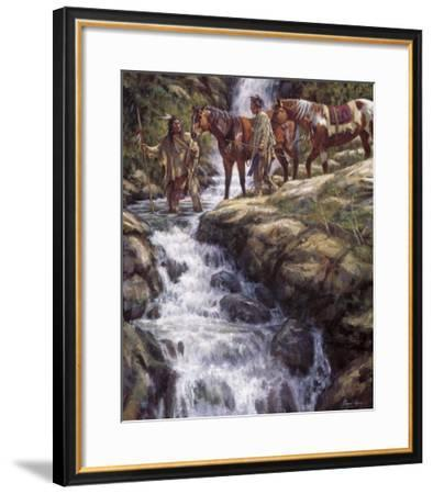 The River Flows Without End-James Ayers-Framed Giclee Print
