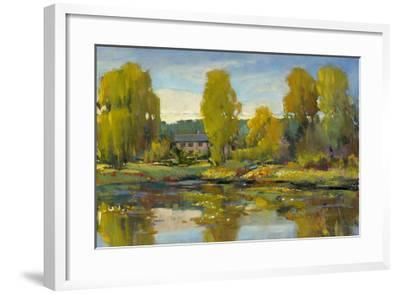 Monet's Water Lily Pond II-Tim O'toole-Framed Giclee Print