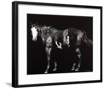 Bald-Faced Broodmare-Julie Chapman-Framed Giclee Print
