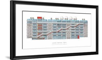 Centre Georges Pompidou, Paris-Renzo Piano-Framed Art Print