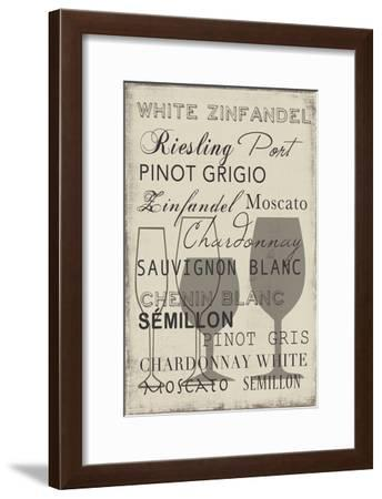 White Wine Collection - Mini-Aimee Wilson-Framed Art Print