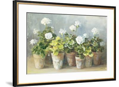 White Geraniums-Danhui Nai-Framed Art Print