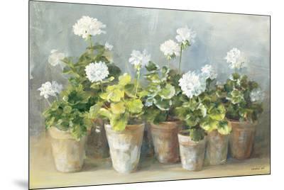 White Geraniums-Danhui Nai-Mounted Art Print