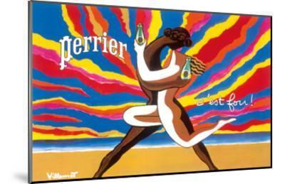 Perrier - The Dancing Couple (Le Couple Dansant) - This is Crazy! (C'est Fou!)-Bernard Villemot-Mounted Art Print