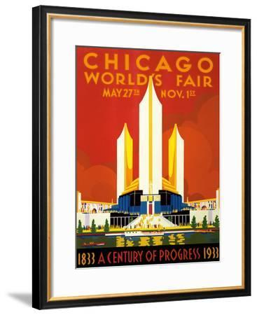Chicago World's Fair - A Century of Progress, 1833-1933--Framed Giclee Print
