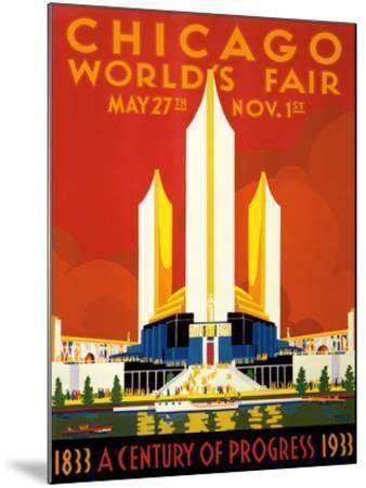 Chicago World's Fair - A Century of Progress, 1833-1933--Mounted Giclee Print