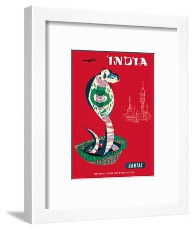 India - Qantas Airways - Indian Cobra (Naja Naja)-Harry Rogers-Framed Art Print