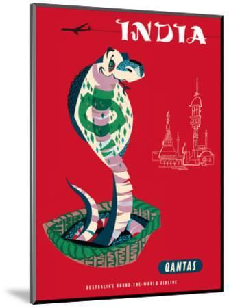 India - Qantas Airways - Indian Cobra (Naja Naja)-Harry Rogers-Mounted Art Print