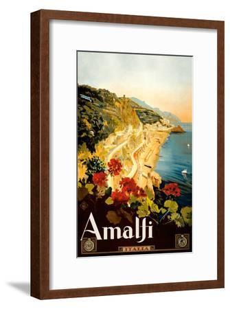 Amalfi Italia - Campania, Italy-Mario Borgoni-Framed Art Print