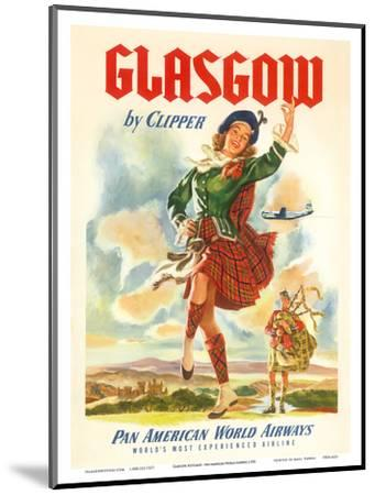 Glasgow Scotland by Clipper - Pan American World Airways--Mounted Art Print