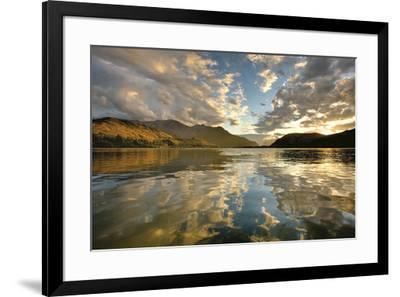 Sunset Over Lake Hayes-Nathan Secker-Framed Art Print
