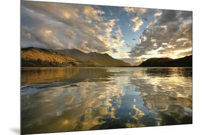 Sunset Over Lake Hayes-Nathan Secker-Mounted Art Print