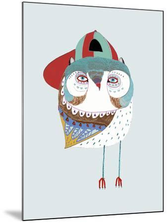 Baby Owl Dude-Ashley Percival-Mounted Giclee Print