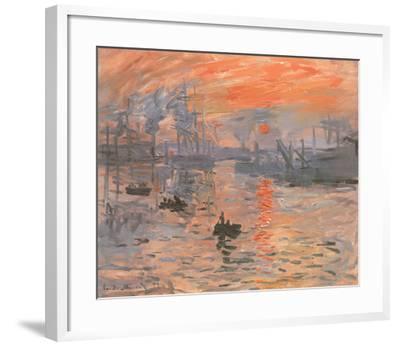 Impression, Sunrise-Claude Monet-Framed Preframe Component - Art