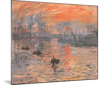 Impression, Sunrise-Claude Monet-Mounted Preframe Component - Art