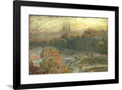 The Tuileries-Claude Monet-Framed Preframe Component - Art