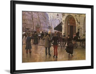 Boulevard des Capucines and The Vaudeville Theatre-Jean B?raud-Framed Preframe Component - Art