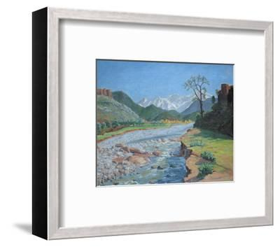 Valley of the Ourika-Sir Winston Churchill-Framed Preframe Component - Art