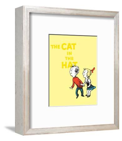 Cat in the Hat Yellow Collection III - Sally & Her Brother (yellow)-Theodor (Dr. Seuss) Geisel-Framed Art Print