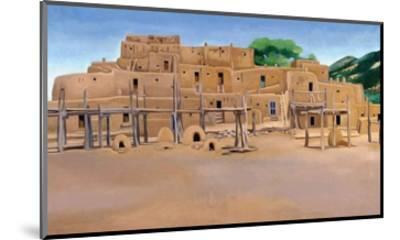 Taos Pueblo-Georgia O'Keeffe-Mounted Art Print