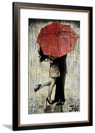 The Red Umbrella-Loui Jover-Framed Art Print