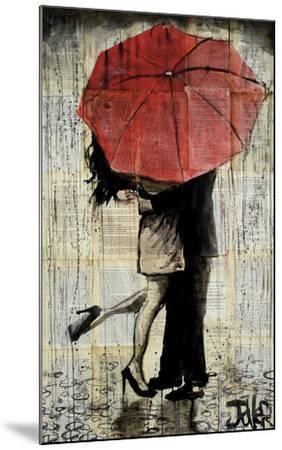 The Red Umbrella-Loui Jover-Mounted Art Print