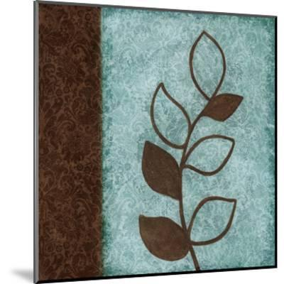 Brown Leaves Square Left-Kristin Emery-Mounted Art Print