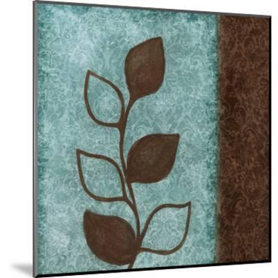 Brown Leaves Square Right-Kristin Emery-Mounted Art Print
