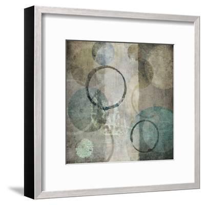 Stone Circles Blue 3-Kristin Emery-Framed Art Print