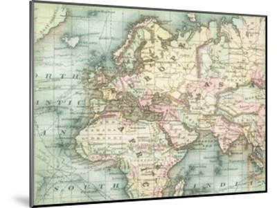 World Map 5-Ophelia & Co^-Mounted Art Print