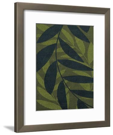 GREEN LEAVES 2-Kristin Emery-Framed Art Print