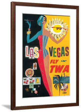 Las Vegas, Nevada - Trans World Airlines Fly TWA, 1958--Framed Giclee Print