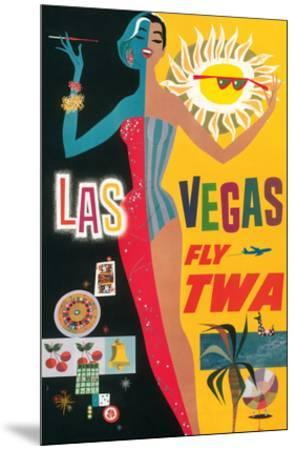 Las Vegas, Nevada - Trans World Airlines Fly TWA, 1958--Mounted Giclee Print