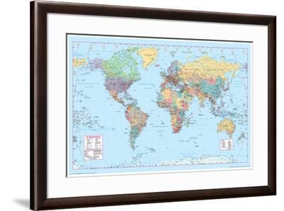 World Map 2--Framed Poster