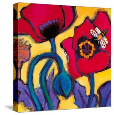 Red Poppies-Gerry Baptist-Stretched Canvas Print