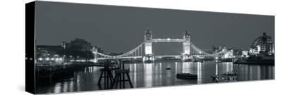 Tower Bridge Reflections-John Harper-Stretched Canvas Print
