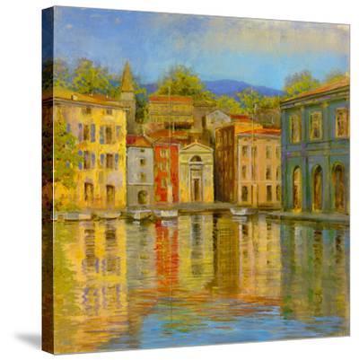 Mirrored Villa-Longo-Stretched Canvas Print