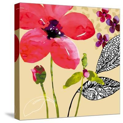 Fun Flowers I-Sandra Jacobs-Stretched Canvas Print