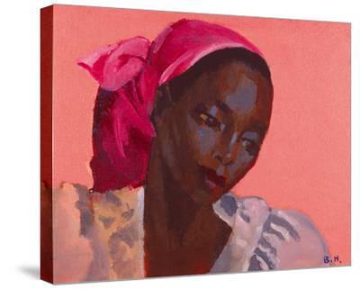 Lady in a Pink Headtie, 1995-Boscoe Holder-Stretched Canvas Print