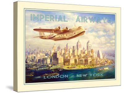 Imperial Airways - London to New York-The Vintage Collection-Stretched Canvas Print