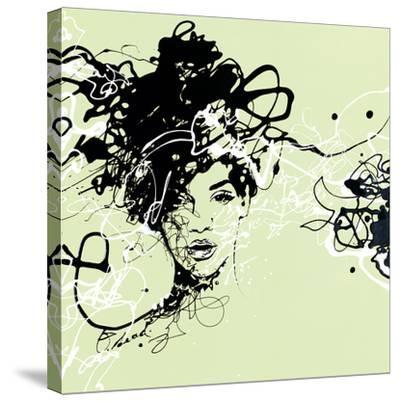 Star I - Detail-Oksana Leadbitter-Stretched Canvas Print