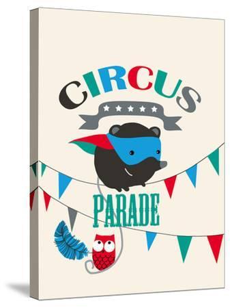 Circus Parade II-Laure Girardin-Vissian-Stretched Canvas Print