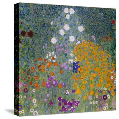 Farmer's Garden-Gustav Klimt-Stretched Canvas Print
