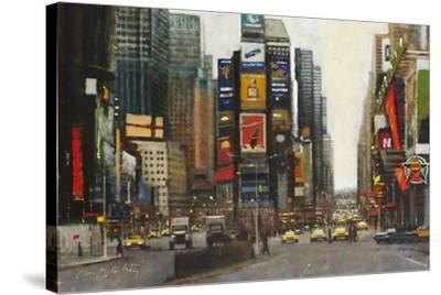 Times Square, New York-Clive McCartney-Stretched Canvas Print