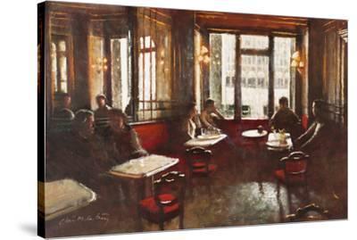 Cafe Florian, Venice-Clive McCartney-Stretched Canvas Print