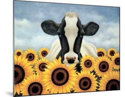 Surrounded by Sunflowers-Lowell Herrero-Mounted Art Print