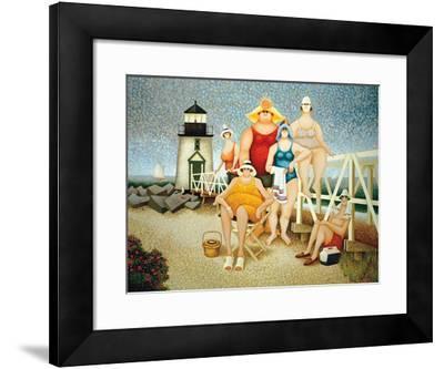Beach Vacation-Lowell Herrero-Framed Art Print